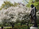 Edward Everett Hale in the Boston Public Garden