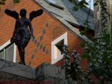Winged Goddess in Silhouette, Mass. Ave. & Beacon, Boston