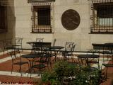 Sunlit Seating on a Hot Spring Day, Boston Public Library