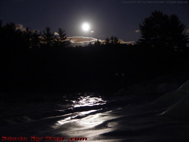 Moonlit Snowscape, Harvard, Mass., Picture for December 29, 2007